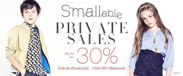 Bis zu 30% Rabatt im Private Sale